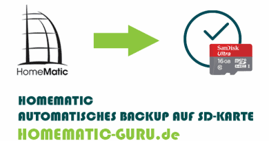 Homematic automatisches Backup