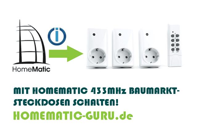 homematic schaltet 433mhz baumarkt steckdosen homematic. Black Bedroom Furniture Sets. Home Design Ideas