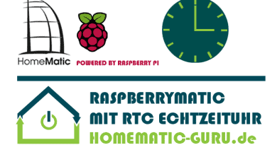 Tutorial Homematic RTC Funkmodul RaspberryMatic