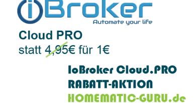 ioBroker Cloud Pro Rabatt Aktion