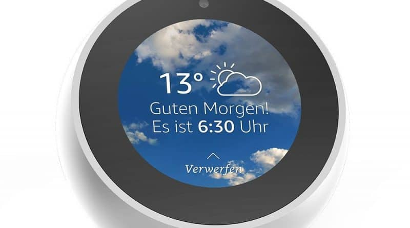 alexa amazon echo spot video in deutschland verf gbar. Black Bedroom Furniture Sets. Home Design Ideas