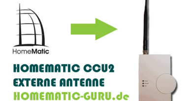 Anleitung Homematic externe Antenne