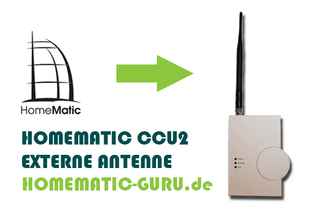 Anleitung Homematic externe Antenne