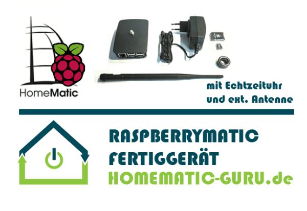 RaspberryMatic kaufen - Fertiggerät mit RTC Echtzeituhr und externe Antenne