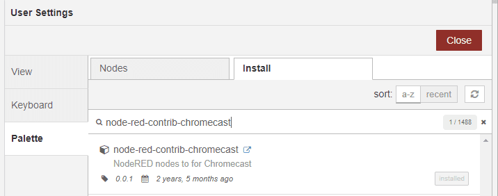 Homematic_node-red-contrib-chromecast