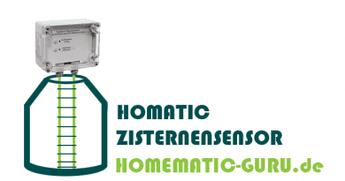 Tutorial Homematic Zisterne Sensor