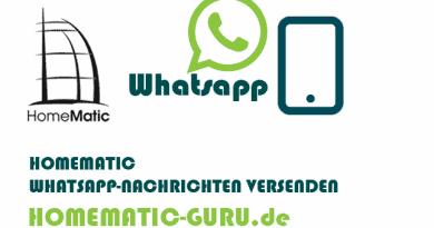 Mit Homematic Whatsapp versenden